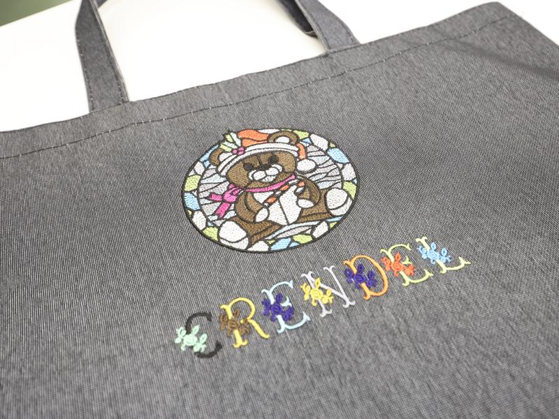 刺繍によるオリジナルバッグ